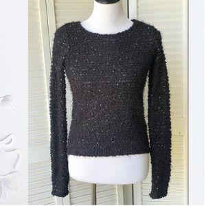 Nwot Jennifer Lopez Sequin ribbon sweater Sz M